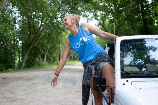 Adventure Girl Michigan Local Tank - Malibu Blue Jeep Wrangler