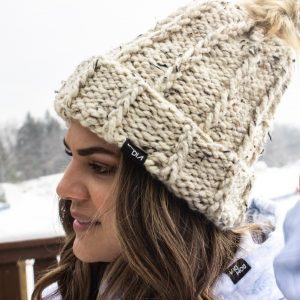 Chunky Hand Made Knit Hat Made in Michigan - Bom Dia Threads