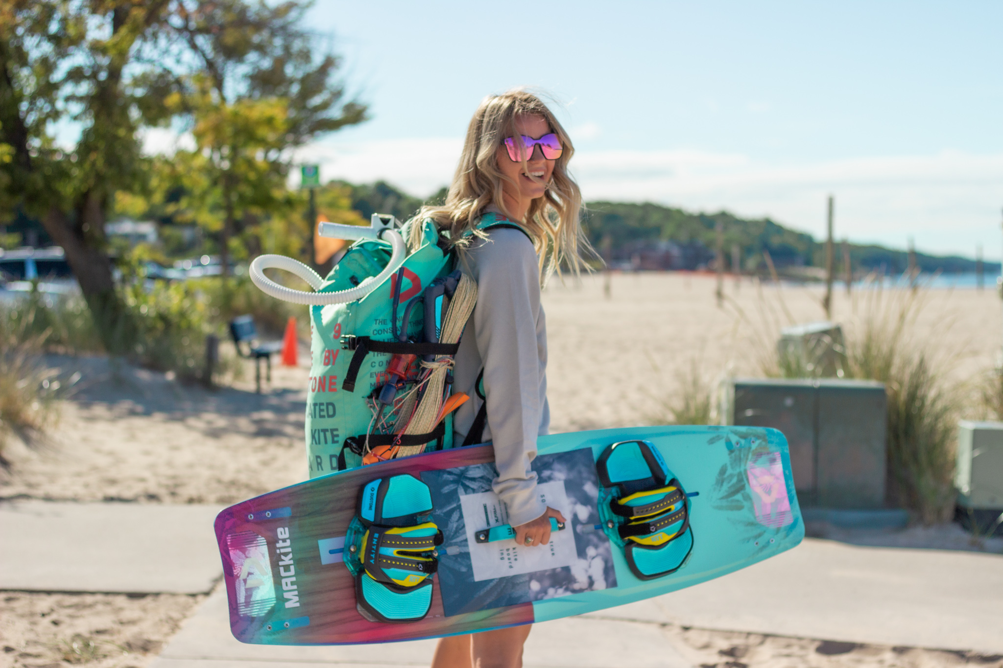Shelby Sharlow - Local Lake MichiganKite Boarder, Model and Mom